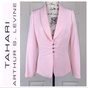 Tahari Arthur S. Levine Lapel Collar Neckline Blazer